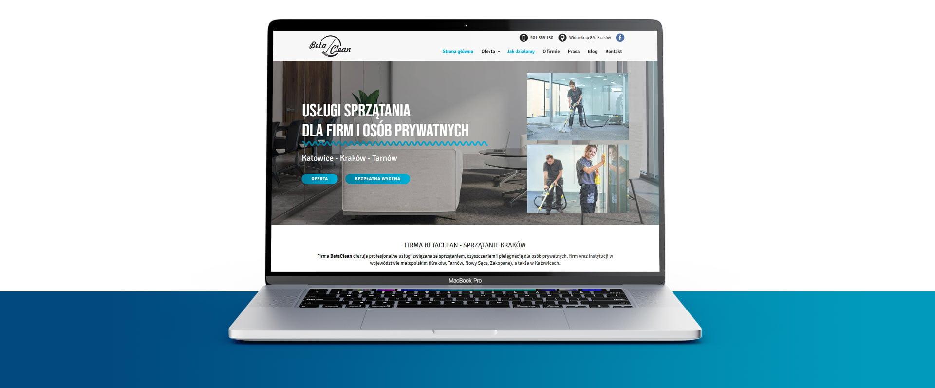 Strona internetowa dla BetaClean